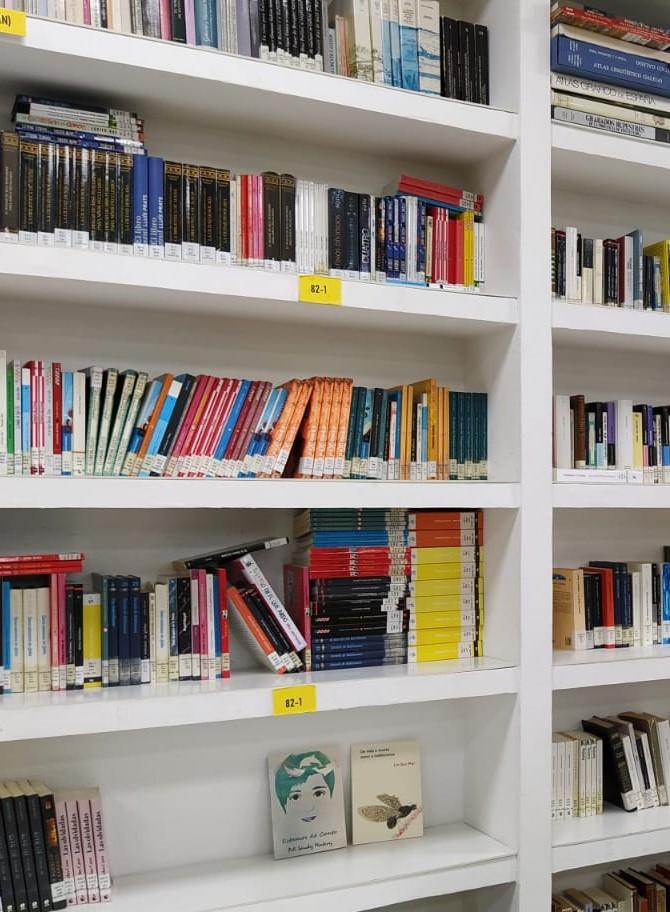 foto biblioteca Daviña Rey