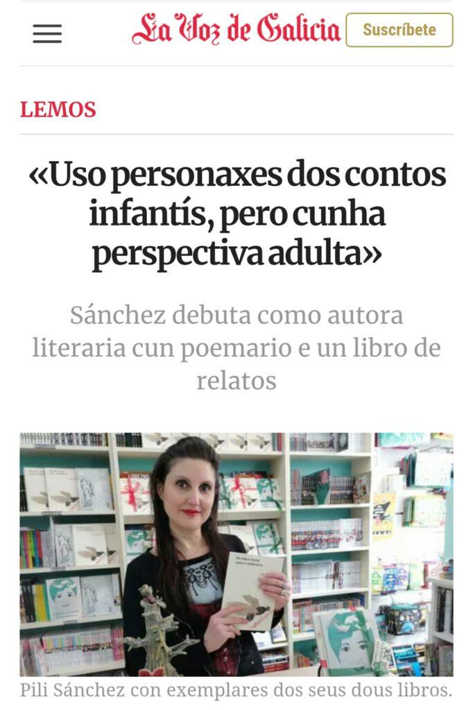 Artigo Pili La Voz de Galicia