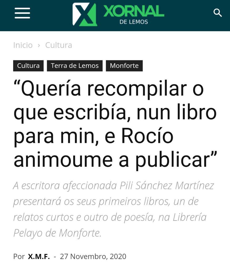 Artigo Pili Xornal Dixital de Lemos